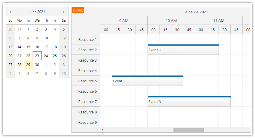 javascript scheduler how to integrate a date picker