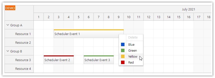 Angular Scheduler: Dynamic Context Menu