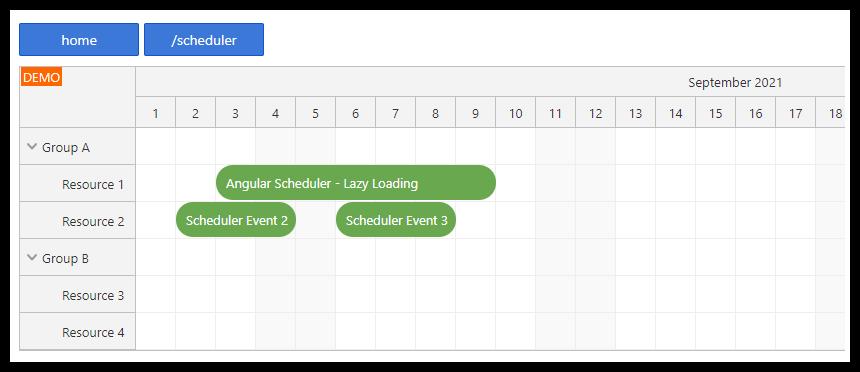 Improve Angular Scheduler Performance using Lazy Loading (Code Splitting)