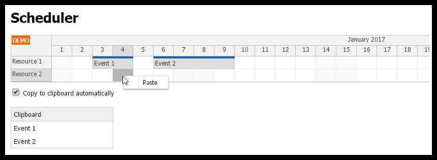 angular2 scheduler copy and paste