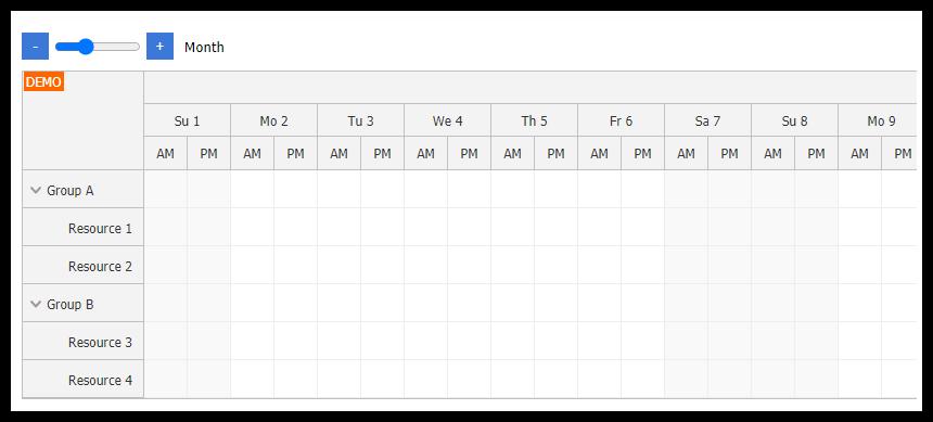 Angular Scheduler: Zoom
