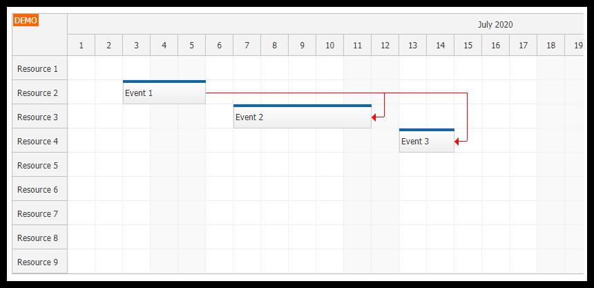 angular scheduler event links