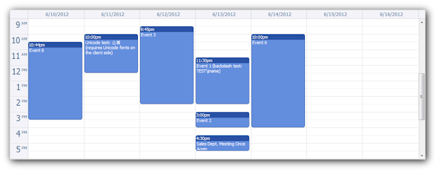 ajax event calendar java open source