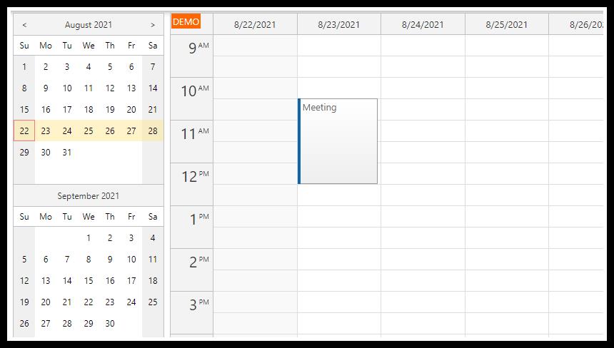 Angular Appointment Calendar Component (TypeScript + PHP/MySQL)