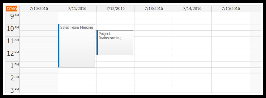 ASP.NET MVC 5 Event Calendar