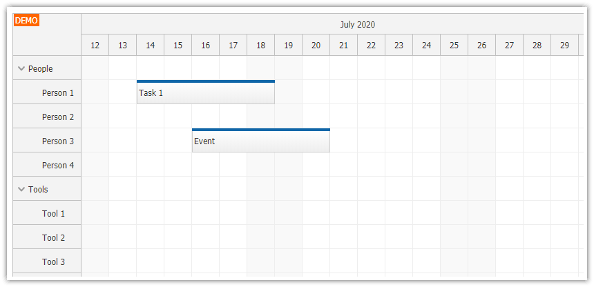 html5 scheduler dynamic event loading