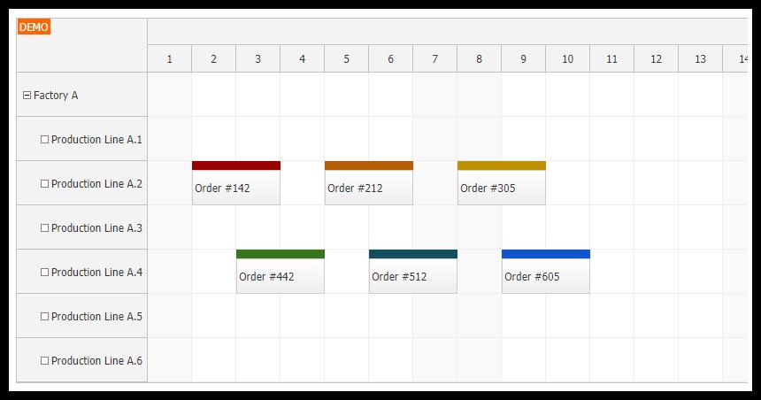 angular 8 scheduler component