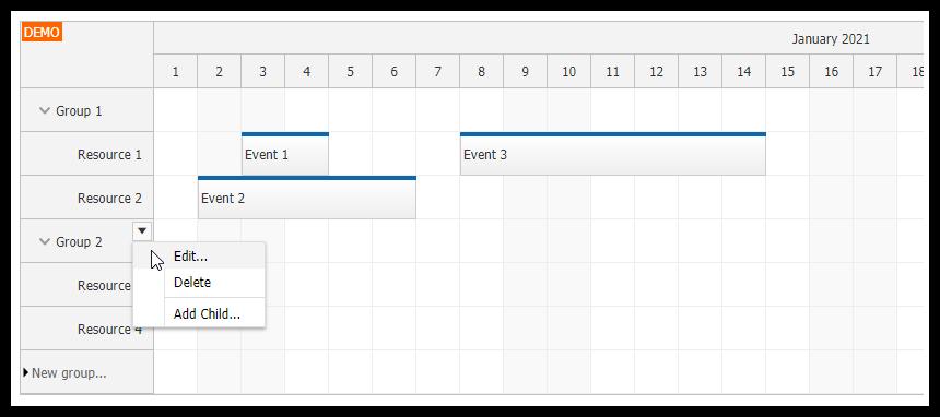 Angular Scheduler: Resource Management