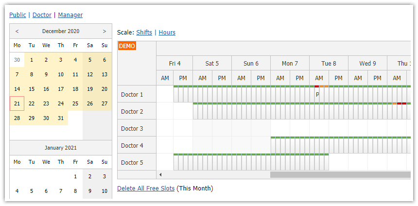 ASP.NET Doctor Appointment Scheduling (C#, VB.NET, SQL Server)