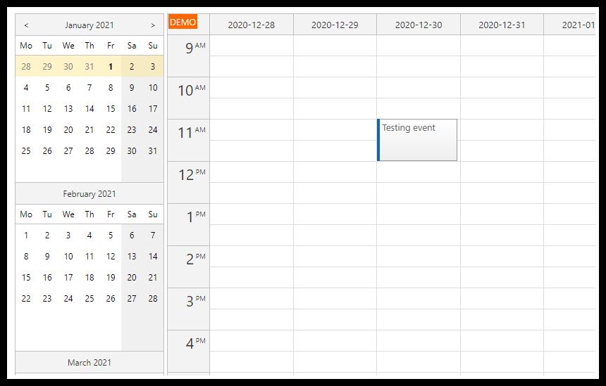 asp.net calendar tutorial navigator date picker integration