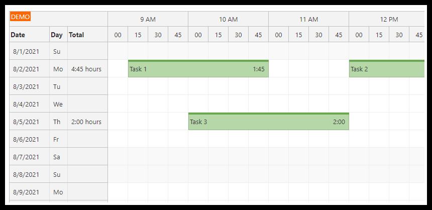 angular 12 timesheet quick start project
