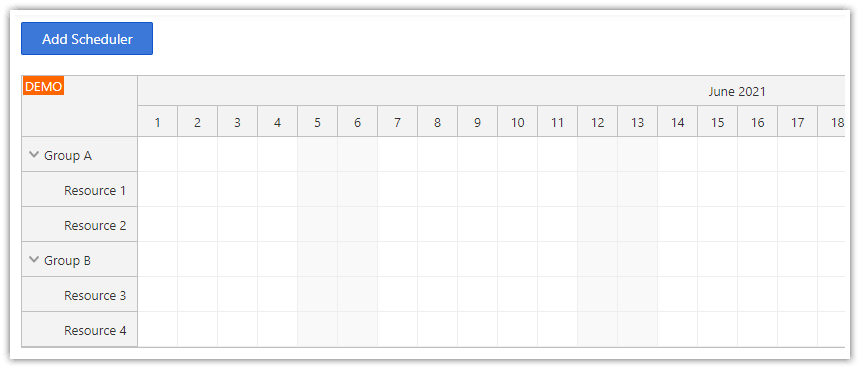 how to create the angular scheduler component dynamically