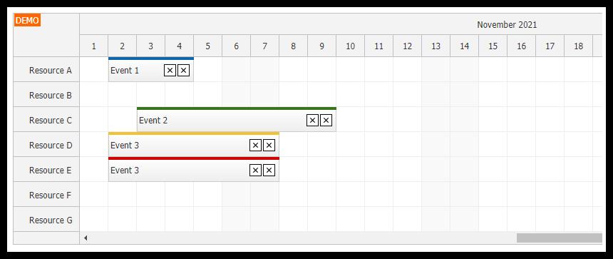 React Scheduler: Rendering JSX in Events