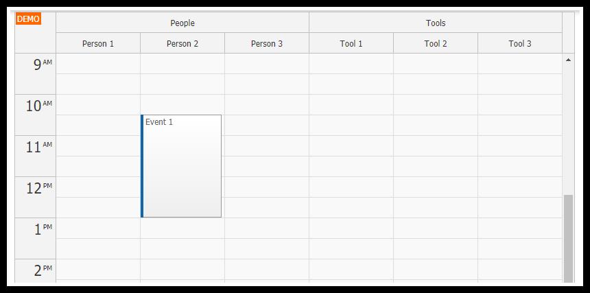 JavaScript Resource Calendar Tutorial (PHP/MySQL)