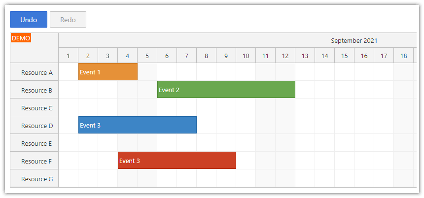 React Scheduler: How to Enable Undo/Redo