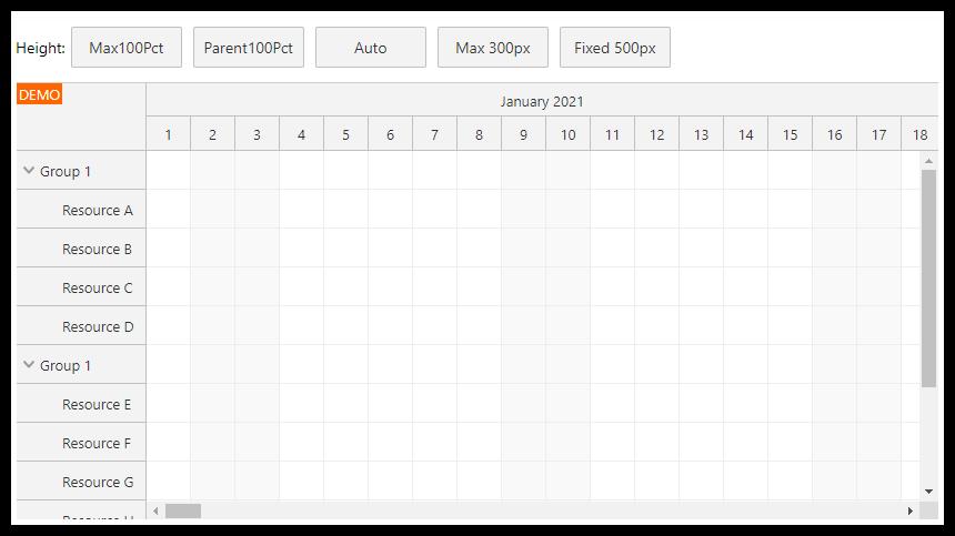 React Scheduler: Full Screen Layout