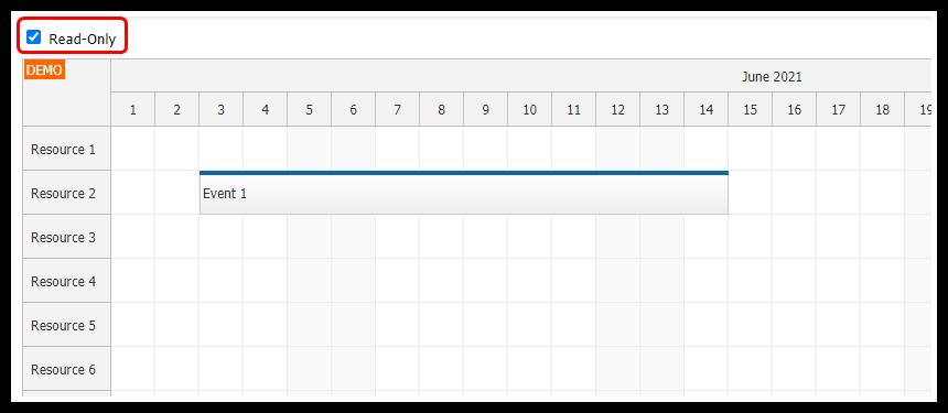 angular scheduler read only mode