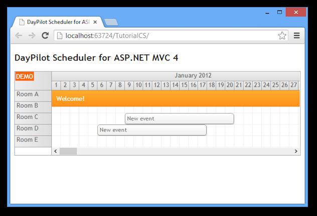 scheduler for asp net mvc 4 razor