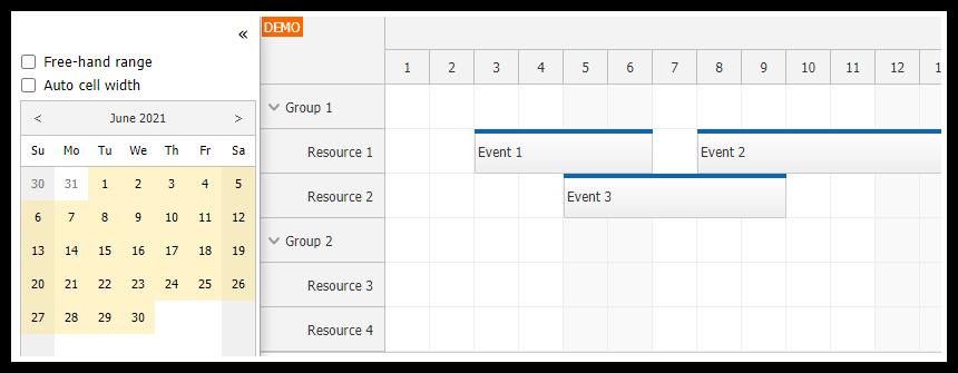 angular scheduler date navigation