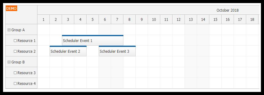 Angular 7 Scheduler Quick Start Project