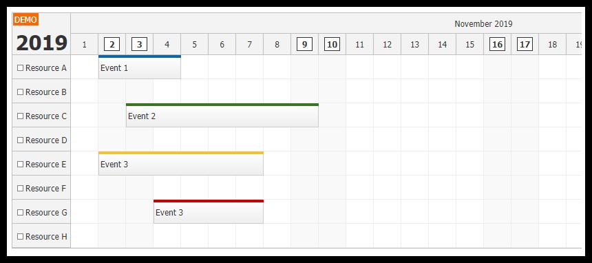 react scheduler rendering jsx in time header