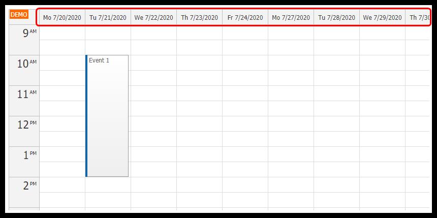 Angular Calendar: Displaying Custom Set of Days