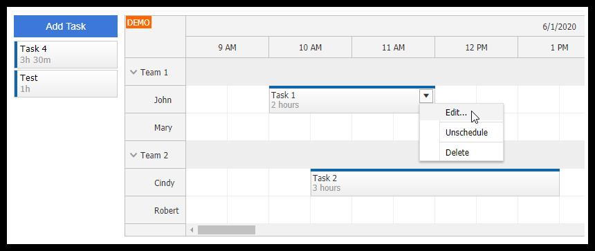 Angular Work Order Scheduling (PHP/MySQL)