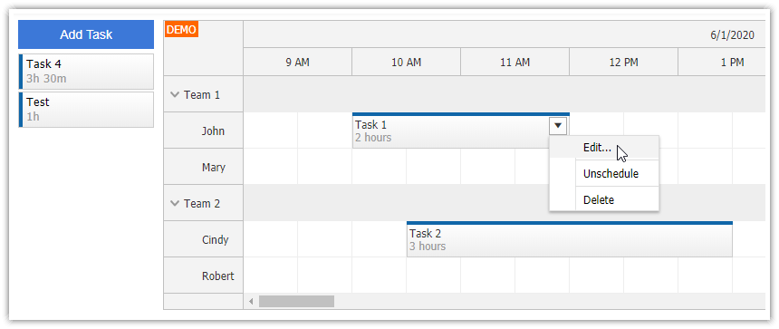 angular work order scheduling php