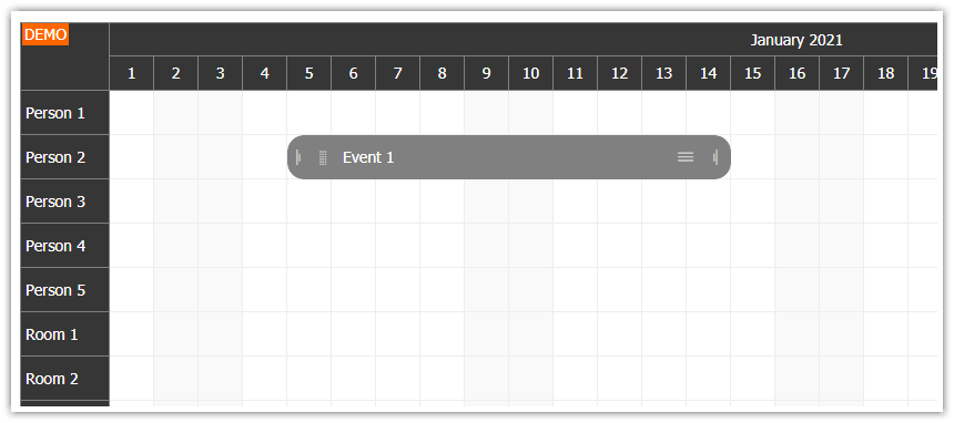 HTML5 Scheduler for Touch Devices - iPad, iPhone, Android (JavaScript)