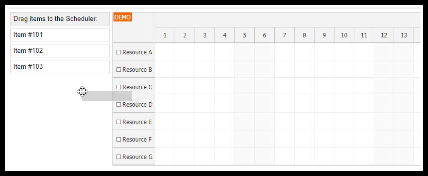 React Scheduler: External Drag and Drop