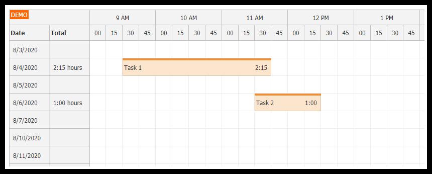 angular10 timesheet quick start project