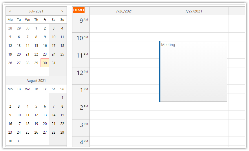 asp.net event calendar modalpopupextender