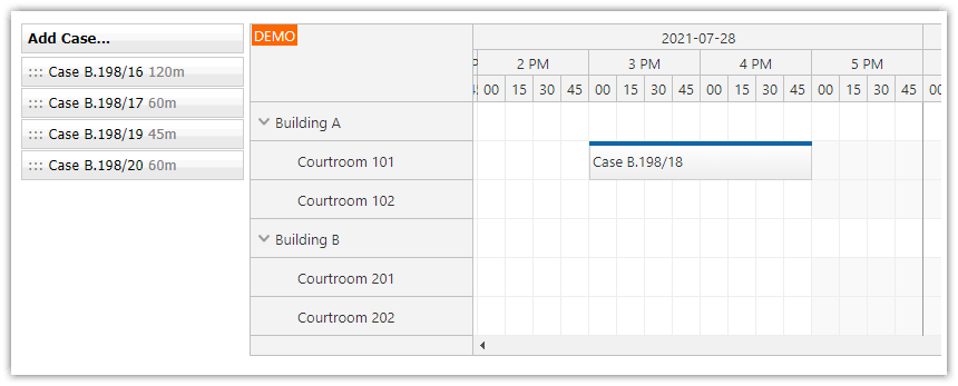 asp.net courtroom schedule reservations