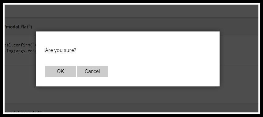 javascript confirm replacement modal dialog