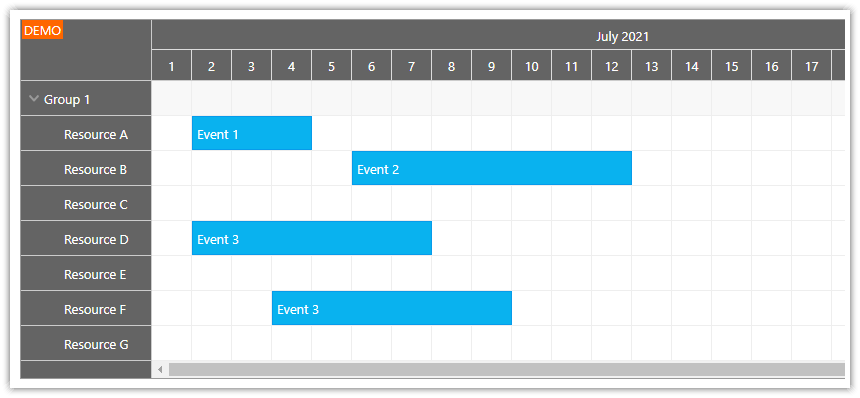 how to use css themes with the react scheduler component