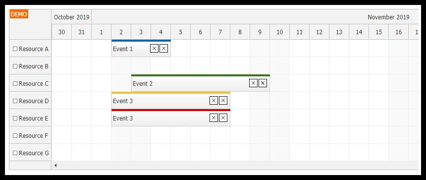 javascript scheduler rendering jsx in events