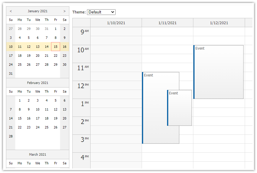 html5 javascript event calendar open source
