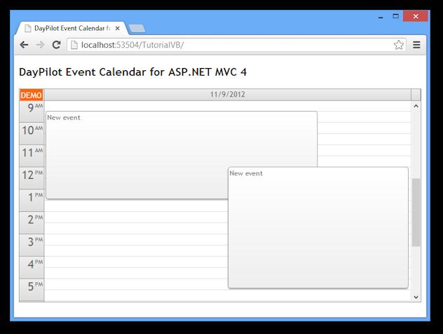 event calendar asp net mvc 4 razor