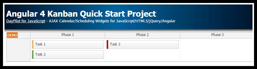 angular 4 kanban quick start project