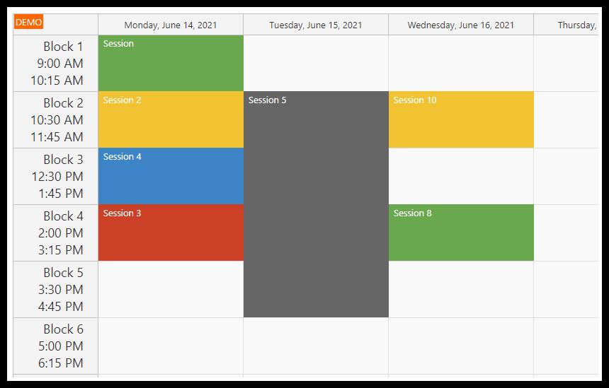 asp.net weekly timetable tutorial