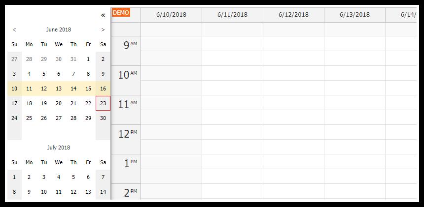 angular calendar full screen layout