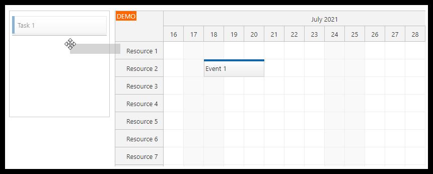 Vue Scheduler: Queue of  Unscheduled Tasks