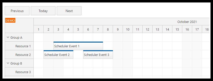angular scheduler next previous today buttons tutorial