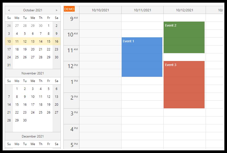 React Weekly Calendar Tutorial