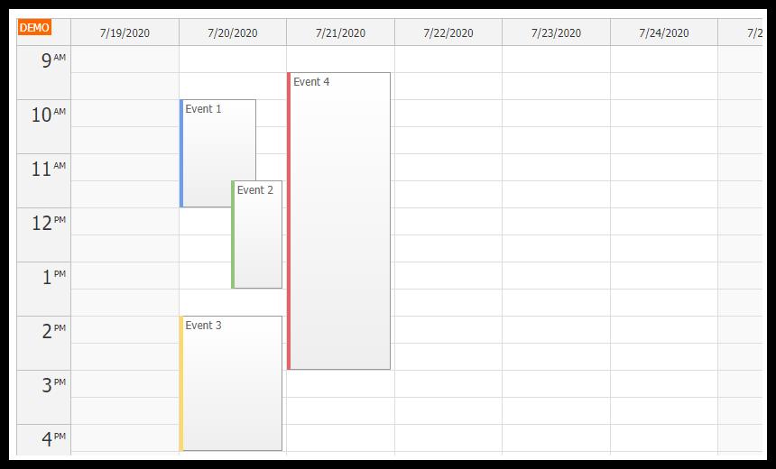 angular 10 event calendar quick start project