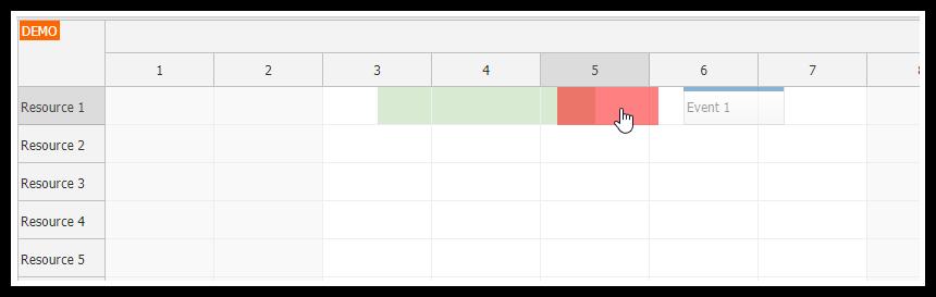 JavaScript Scheduler: Disabling Custom Date/Time Ranges