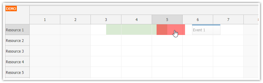 javascript scheduler disabled range