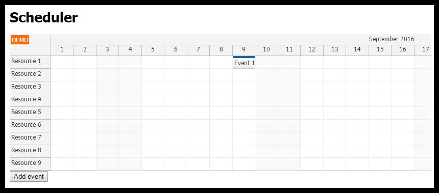 angular 2 cli scheduler tutorial