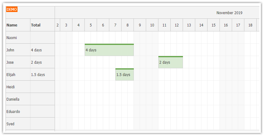 angular annual leave scheduling application asp.net core