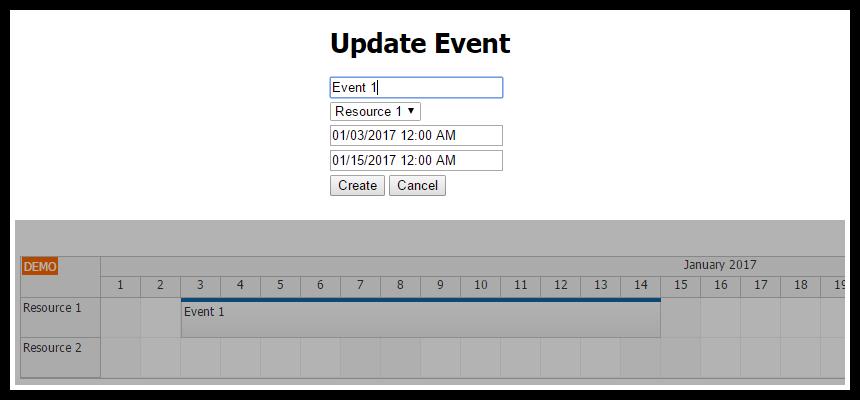angular2 scheduler event edit modal dialog